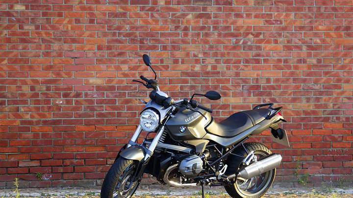 BMW R1200R Standing Outside House In Black